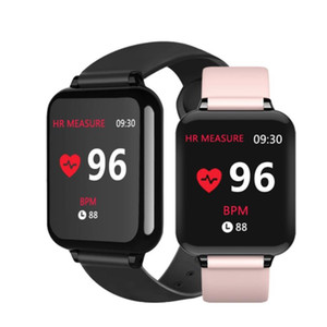 B57 1.3inch IPS bunter Bildschirm Druck intelligente Armband Herzfrequenz Blut 25 Tage Überwachung lange Standby-Smart-Band-Mädchenfrauen stilvolle Uhr