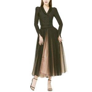 commuter temperament 20 autumn dress suit collar long sleeve short skirt suit coat + Xu Ruizhi with money