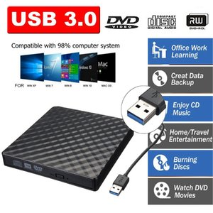 USB 3.0 External DVD Burner Writer Recorder DVD RW Optical Drive CD DVD ROM Player MACs OS Windows XP 7 8 10