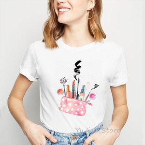 Lipstick lips t shirt graphic tees women Make Up Is My Art letter print t shirt camiseta mujer vogue tshirt femme streetwear