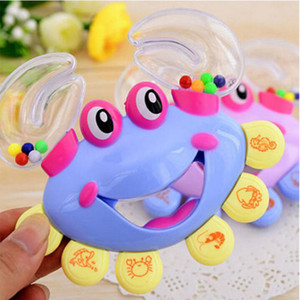 Прекрасная детская игрушка Дети Детские краб дизайн Handbell музыкальный инструмент Jingle Thruck Boys Girls Toy YHM622
