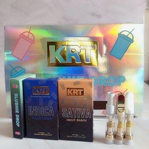 Más nuevos Cartuchos de Vape KRT 0.8ml Atomizador de la bobina de cerámica Vacíe 510 Vidrio de hilo Vape Vape Bolígrafos KRT Carritos con caja de embalaje al por mayor