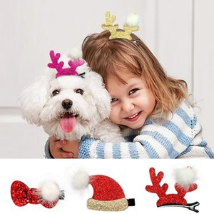 Puppy Dog Baby Girl Hair Bow Clip Pet Grooming Accessories Small Pets Dogs Bowknot Headwear Clips For C bbyILi