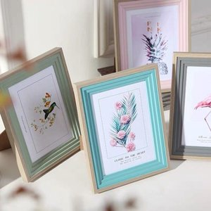 Photo Frame Creative DIY Wall Hanging Combination Simple Home Living Room Decoration 5, 6, 7, 8, 10 Inch Net Red Swing Table