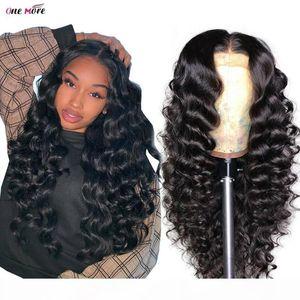 Mais um peruano peruano peruca profunda peruca 4x4 encerramento peruca parte parte parte dianteira perucas de cabelo humano pré-arrancada 180 densidade remy perucas