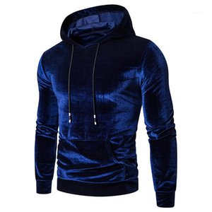 Hoodies Mens Long Sleeve Pullover Thick Winter Hooded Sweatshirts Multi Colored Men Casual Tops Solid Color Fleece