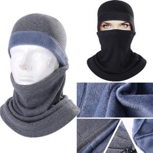Unisex Fleece Hat and Scarf 2 Piece Set Women Mens Skimask Beanies Skull Tuque Caps Neckwarmer Winter Motorcycle Cycling Headwear LY1012