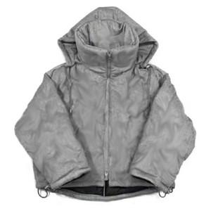 Горячая распродажа 20fw шерстяная кашемировая ткань тяжелая тиснение пуховик зима теплый открытый пальто мужчины женщин ветрозащитный ул