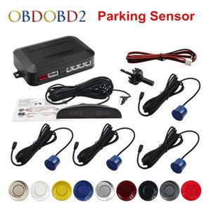 4 Sensors Buzzer 22mm Car Parking Sensor Kit Reverse Backup Radar Sound Alert Indicator Probe System 12V 9 Colors Free Ship