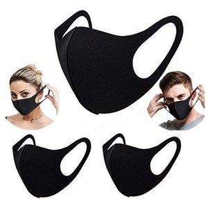 Cara de moda para la entrega 3D algodón a prueba de polvo a prueba de polvo rápido anti-neblina máscara negra para un gran inventario adulto