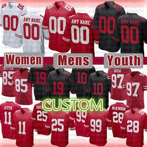 80 Jerry Rice A Joe Montana Custom Football Jersey Ronnie Lott Aheem Moster Deebo Samuel Fred Warner Sander George Kittle Ricky Watter