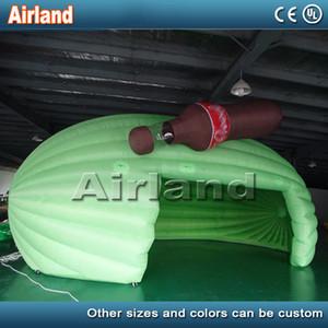 تخصيص المنقولة أكسفورد 8mLx4mWx5mH نفخ الأخضر شريط خيمة حانة بار نفخ المنزل معرض للنفخ للبيع