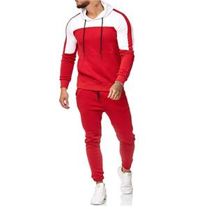 2021 Recién llegados Mens Designer Trajes de manga larga con capucha de manga larga Pantalones Pantalones Conjunto de moda Casual Ropa masculina