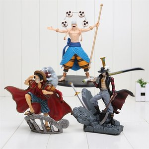 15cm Anime One Piece Draccule Mihawk Luffy Enel PVC Action Figure Collection Toy Y200421
