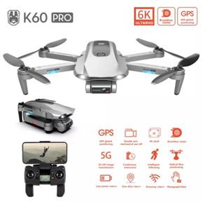 K60 Pro 6 K HD Elektrikli Ayarlama Çift Kamera 5G Drone, 50 kez zoom, iki eksen gimbal, fırçasız motor, GPS konumlandırma, akıllı takip 1 adet