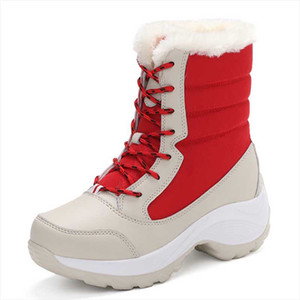 Winter 2020 New Plush High Top Women Shoes Lace Up Snow Fur Keep Warm Boots Women Fashion Cotton Wholesale Price Shoes In Stock