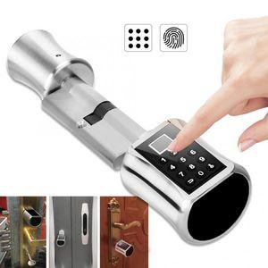 Intelligent Biometric Fingerprint Scanner Door Lock Password Coded Lock for Smart Home door handle lock cerradura inteligente