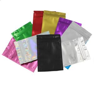 Colorido Doypack Aluminio Floil Zip Bloqueo de envasado Bolsa de embalaje Resellable Ziplock Mylar Candy DIY CRSDFSDFS