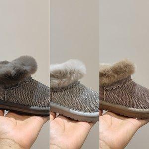 U8ne Clibee sonbahar kış sıcak sentetik çocuklar su geçirmez düz kayış kidsgirl çizmeler 22-27 201029