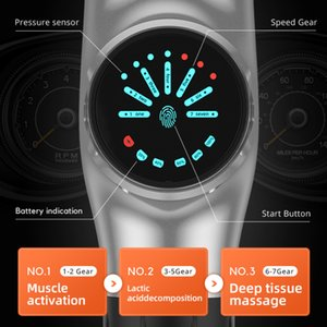 16.8V Muscle Massage Gun Massager 7 Speed Control Display 2400mAh 8pcs High Percussion Therapy Deep Muscle Tissue Relax