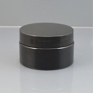 30g 50g 100g nera contenitore cosmetico vaso crema di plastica, plastica vuote Crema riutilizzare i contenitori con i coperchi stampabile personalizzato 201013
