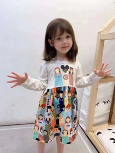 2020 new kids long sleeve Dress princess Summer Style Dress high  Sundress Overall Mini children beautiful Dress
