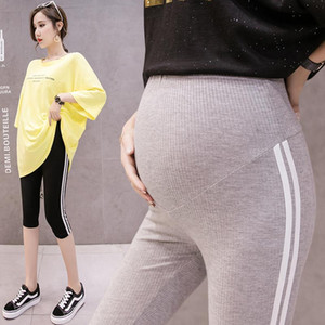 high quality 2020 Summer Thin Skinny Maternity Legging 7 10 Length Short Capris Clothes for Pregnant Women Casual Belly Pregnancy Pants
