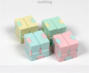 Новый Infinity Cube Candy Color Fidget Cube Anifis Cube Bube Finger Hand Spinners Веселые игрушки для взрослых детей ADHD Стресс