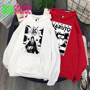 New Harajuku Akatsuki Unisex Hoodies Wear Japanese Anime Sasuke Men's Hoodie Male Streetwear Fashion Casual Sweatshirts