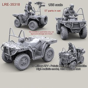 1 35 resin model kit US Military ATV - Polaris MV 850 ATV quadrobike (only Car) unpainted and unassembled Free shipping 311G Y190530