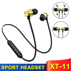 Bluetooth Magnetic Headphones XT-11 Running Sports Earphones in-ear Wireless Earbuds BT4.0 Various Colors for MP3 MP4 Cell Phones with Box