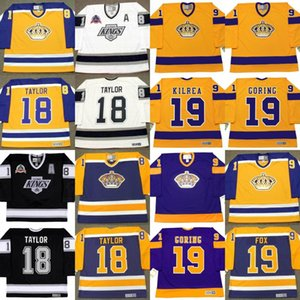 Los Angeles Kings Jersey DAVE TAYLOR Brian Kilrea Butch Goring JIM FOX Larry Robinson BOB BERRY personalizado Ice Hockey Jerseys S-5XL
