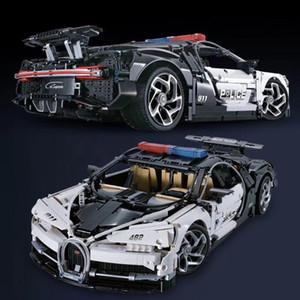 Decool Technic Series Bugatti Chiron Racing Car 3388A 3388B 3388C 3388D شرطة سيارة نموذج اللبنات الطوب اللعب صالح 20086 X0102