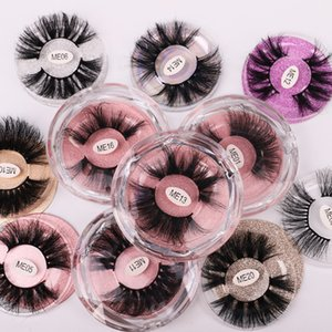 Newest HOT 25MM 3D Mink Eyelashes 25MM False Eyelashes 100% Mink Eyelash Mink Lashes Thick Long Dramatic Eye Lashes Transparent jewel Box