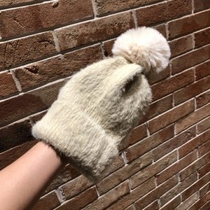 2020 original new luxury couple knitting wool hat Rabbit plush fabric soft and fluffy, free delivery