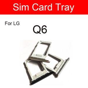 Singal double carte SIM support de plateau Slot pour LG Q6 LG-M700A M700A Sim Adaptateur carte SD Flex câble de téléphone portable réparation de remplacement