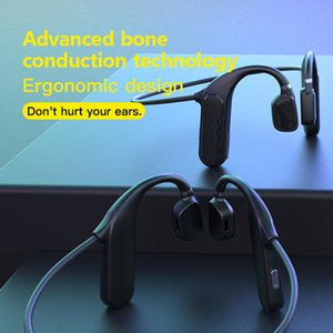 MD04 Bluetooth Wireless Headphones 3D Bass Stereo Noise Reduction Sport Music Earbuds Bone Conduction HiFi Business Call Earphone 20pcs DHL