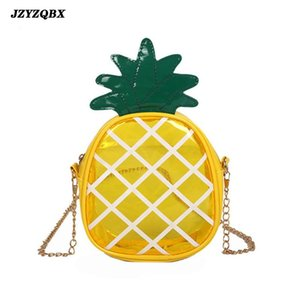 Women's Bag Banana Color Transparent Messenger Bags Woman Shoulder Bags And Handbags Pineapple Shape Womens' Pouch