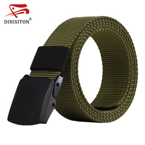 DINISITON Automatic Buckle Mens Canvas Belts Male Army Tactical Belt Men's Military Waist Nylon Strap Male Fashion Casual Belt
