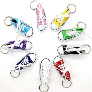 Creative Key Ring Chain Mini Board Shoes Bag Fashion Pendant Funny Canvas Shoes Pendant Christmas Party Gift Party Supplies BWC278