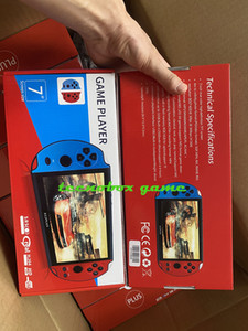 2020 Jeux de jeu vidéo Joueur X12 Plus Portable Portable Jeu de poche Console PSP rétro double rocker joystick 7 pouces écran vs x19 x7 plus