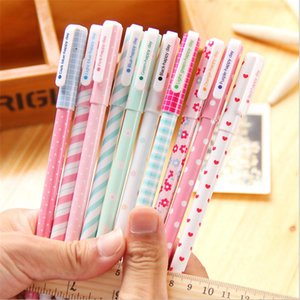 10pcs lot Office School Accessories 0.38mm Pen Nice Gel Pens Colorful Cute Floral Watercolor Pen