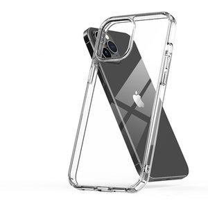 El nuevo modelo es adecuado para iPhone12 Thone Mobile Shell anti-Drop TPU + PC Transparent Hard Shell iPhone11Pro Max Funda de teléfono móvil