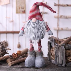 2020 Новогодних украшений скандинавским Санта Клаус украшения земли бог нашивка стоя лицом менее кукла кукла Rudolph