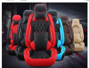2019 Luxury Leather Non-slip Seat Cover Cushion 5-Seat For Car Interior Accessories