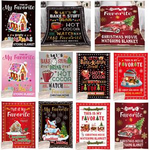 Рождественские одеяла мультфильм письма напечатаны одеяло детские диван мягкие плюшевые кровавые прозраки тонкие одеяла Xmas одеяла 130 * 150см CYF4516