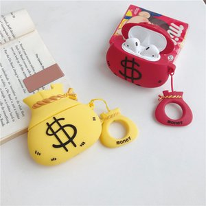 Fashion Money Bag Designer Case For Bluetooth Headphone AirPods 1 2 Airpods Case Wireless Red Blue Bluetooth Headset Set Shell