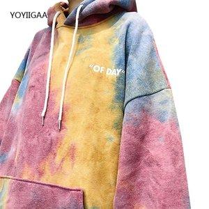 Tie-dye Women's Hoodies Autumn Winter Female Hooded Casual Sweatshirt Tops Harajuku Oversized Ladies Girls Hoodie Hoodies