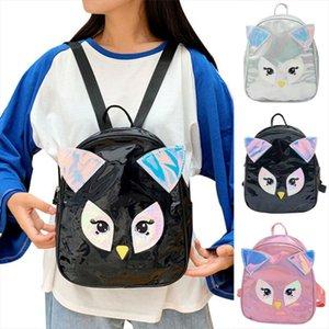 Laser Mini Backpacks Female Small Travel Rucksack For Women Fashion Rainbow multicolor School Bags For Teenage Girl