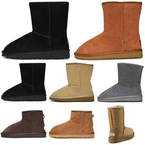 2020 kadın kış kar botları moda klasik ayak bileği diz çökmek ayakkabılar kısa yay kürk yarım papyon çizme patik kestane spor ayakkabılar boyutu 36-41